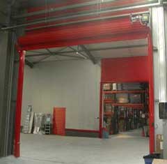 Fire resistant industrial roller shutters