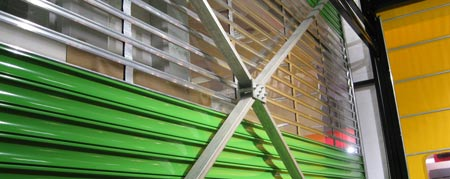Wind protection of roller shutters